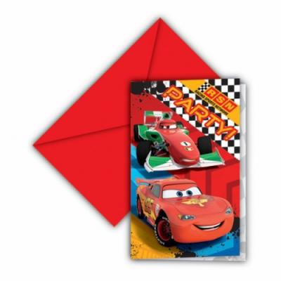 Cartes Cars Disney invitation anniversaire par 6