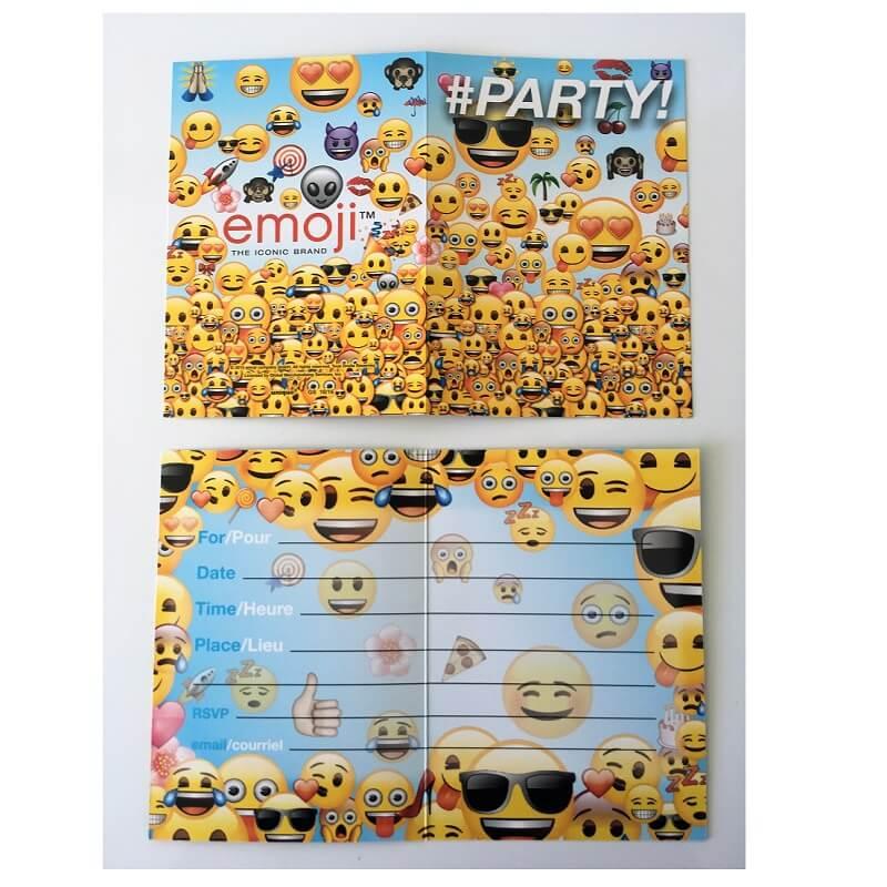 Cartes emoji invitation anniversaire ou fete