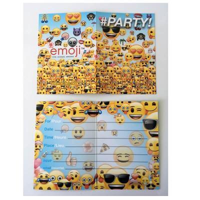 8 cartes Emoji™ pour anniversaire ou fête