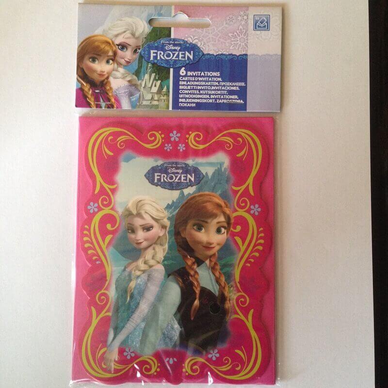 Cartes invitation anniversaire la reine des neiges enfant 1
