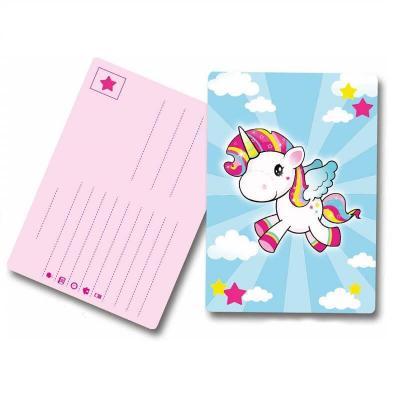 Cartes d'invitation anniversaire la licorne volante par 8