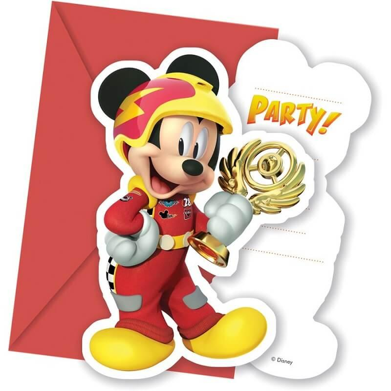 Cartes invitation anniversaire mickey disney