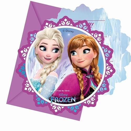 Cartes invitation reine des neiges anniversaire ou fete 2