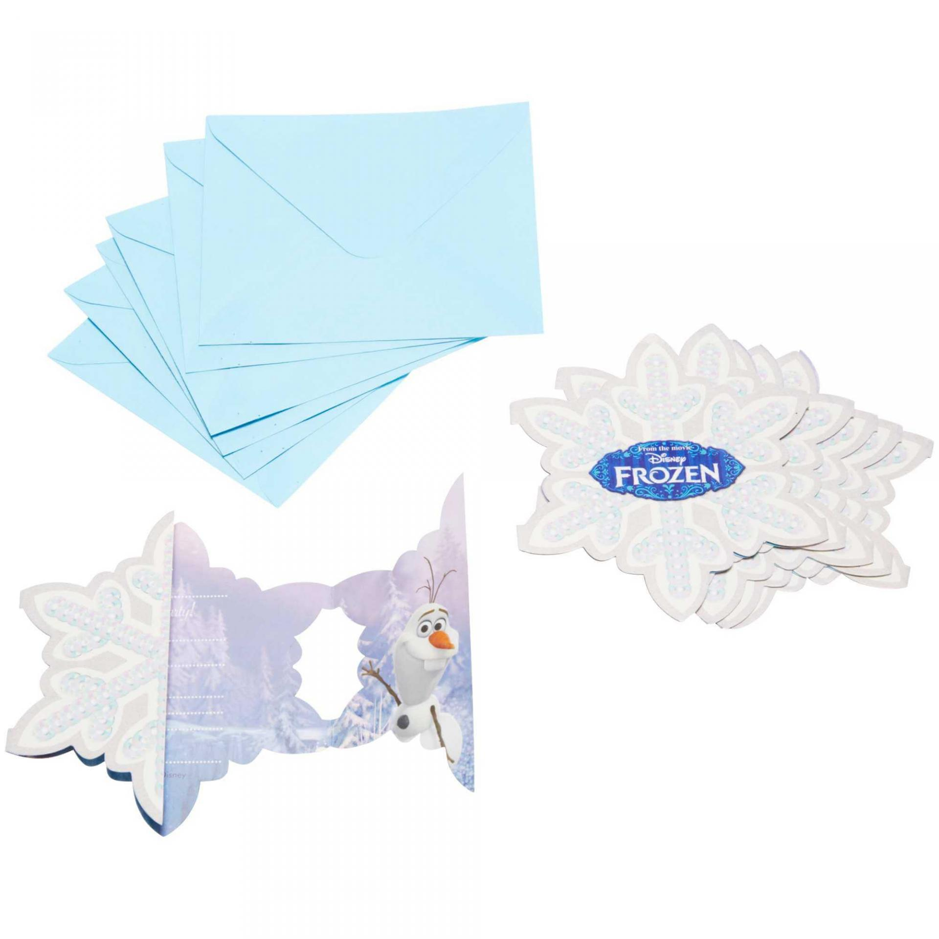 Cartes invitations la reine des neiges bleu grise 2