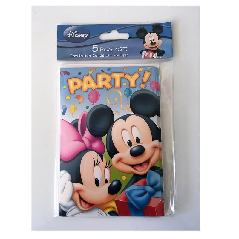 Cartes Mickey et Minnie Disney - Invitations anniversaire enfant