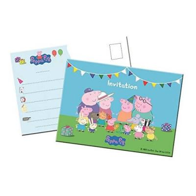 Cartes d'invitation Peppa Pig ™ - Lot de 8 cartes