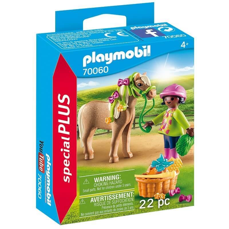 Cavaliere et poney playmobil