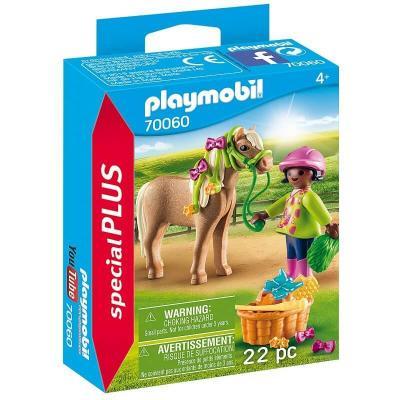 Cavalière avec son poney Playmobil