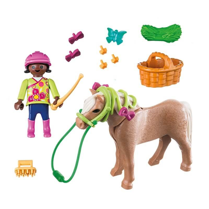 Cavaliere poney playmobil