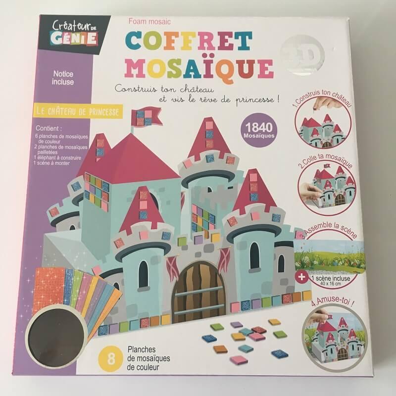Chateau de princesse coffret mosaique 3d