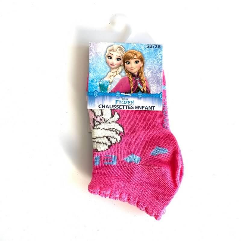Chaussettes enfant la reine des neiges roses