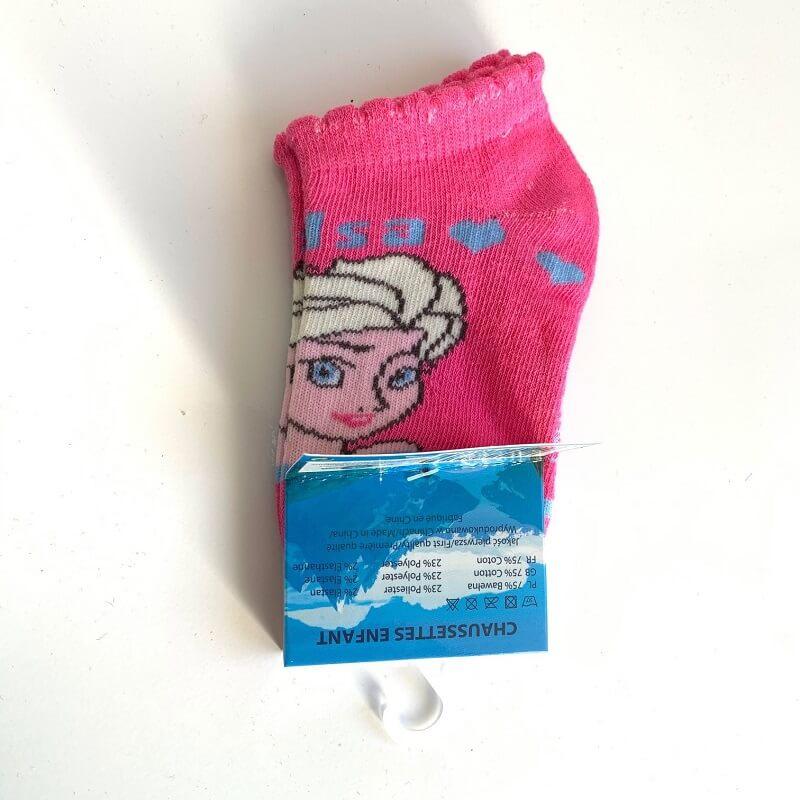 Chaussettes la reine des neiges roses elsa disney
