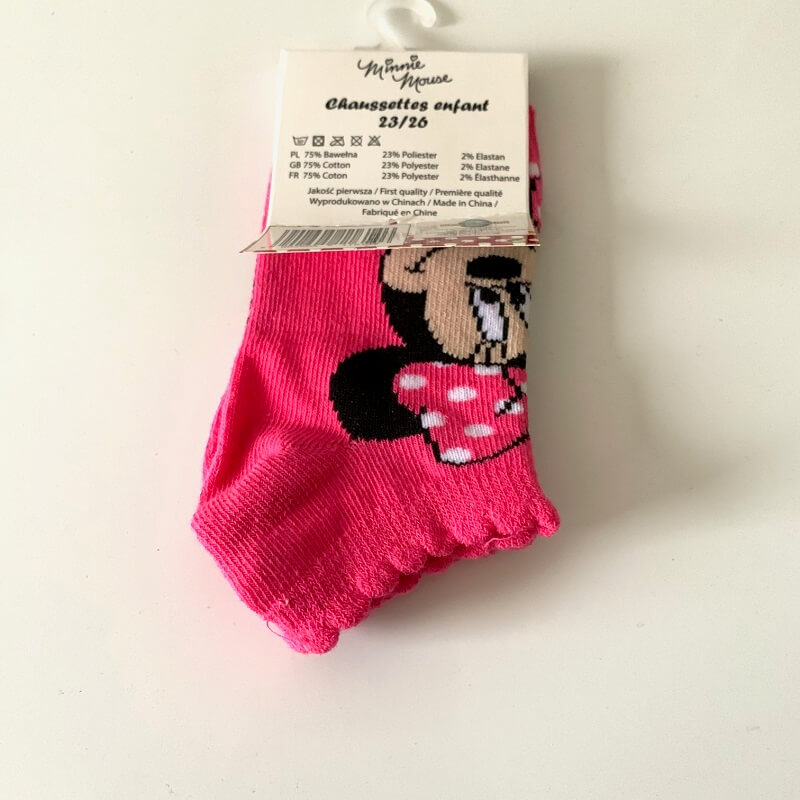 Chaussettes minnie disney roses