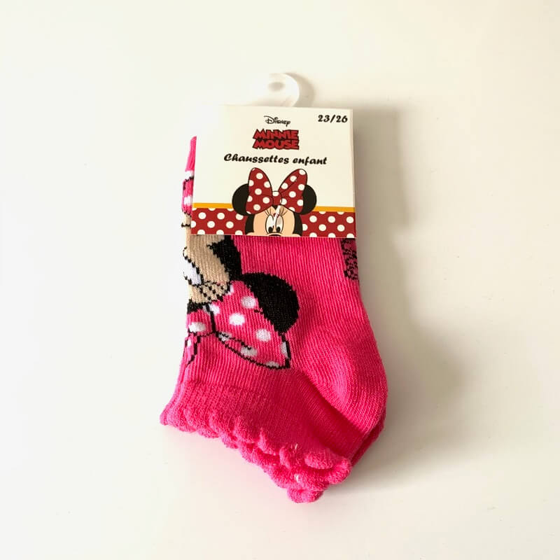Chaussettes minnie roses