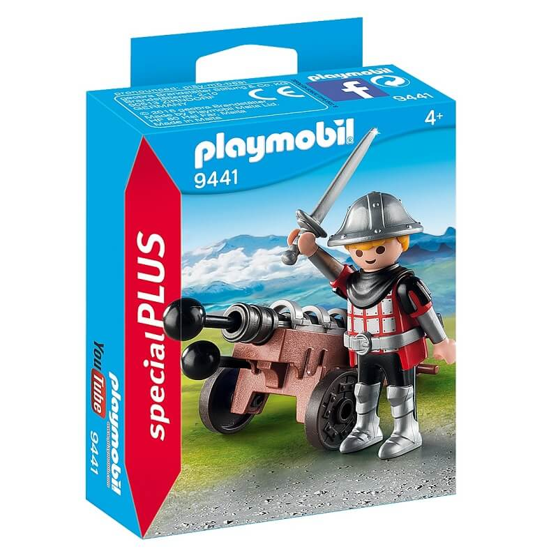 Chevalier avec canon playmobil