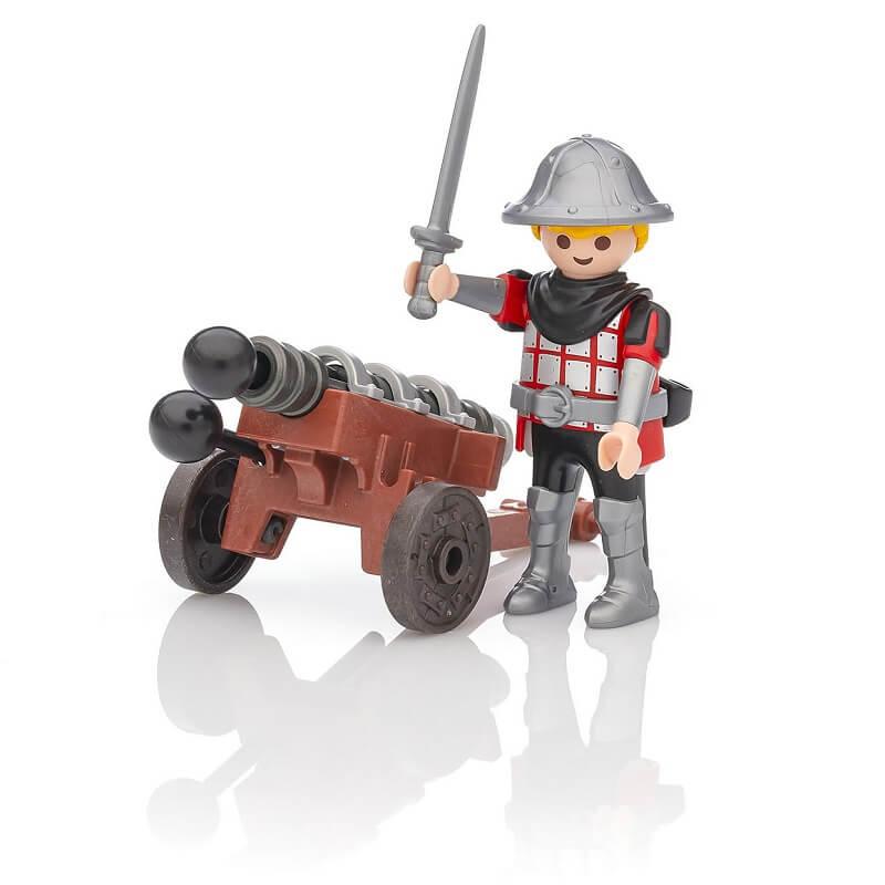 Chevalier playmobil avec son canon