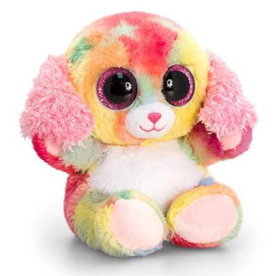 Peluche chien multi-couleurs aux gros yeux Keel Toys