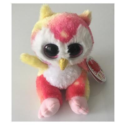 Chouette multicolore aux gros yeux Animotsu Keel Toys