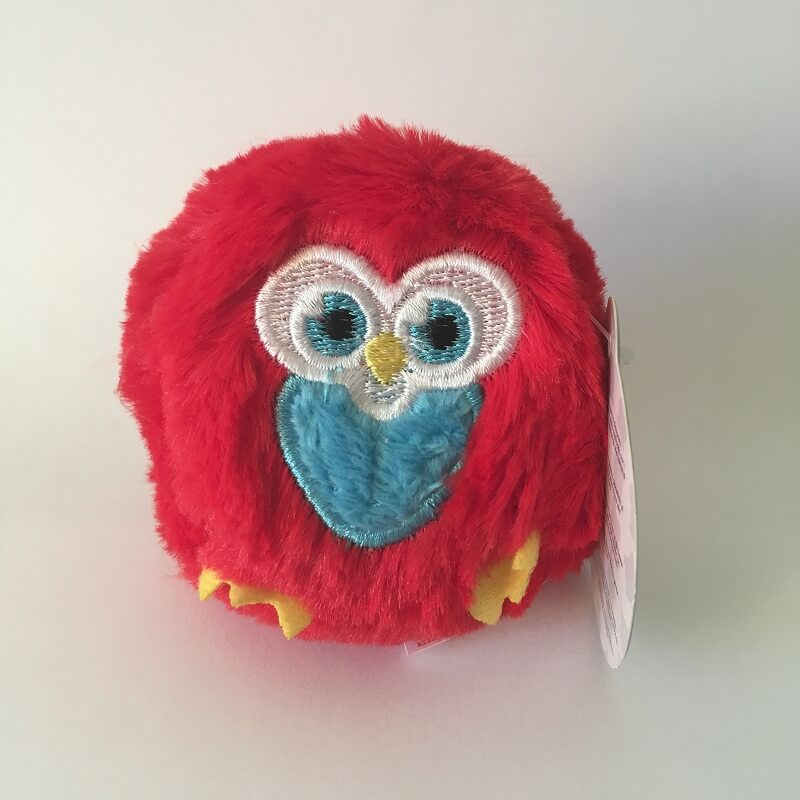 Chouette rouge booballs keel toys