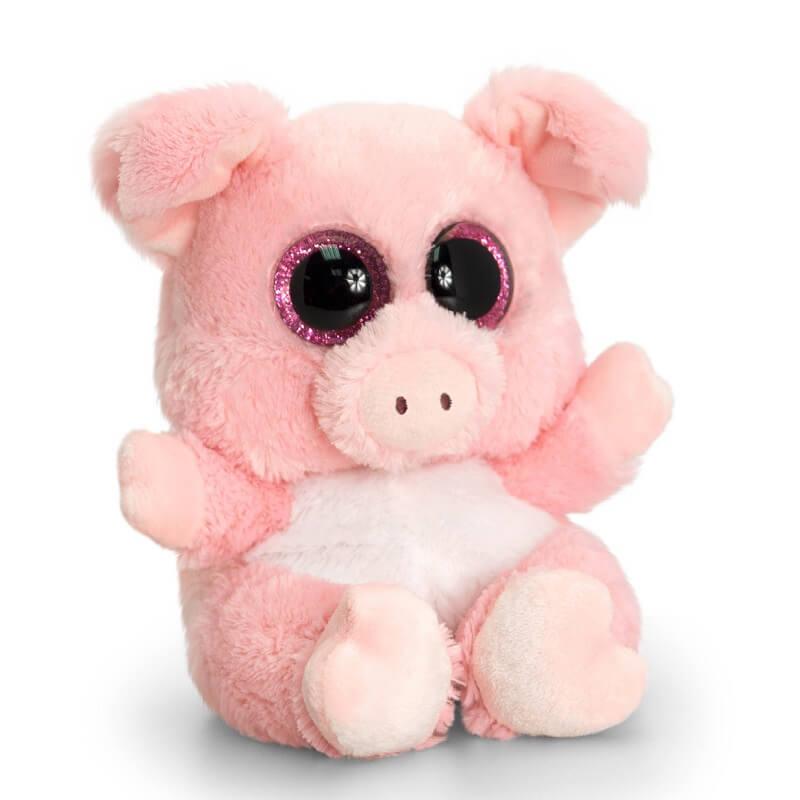 Peluche cochon aux gros yeux toute douce - Jeux de toutou a gros yeux ...