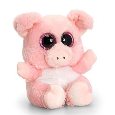 Cochon peluche aux gros yeux tres doux Kell Toys