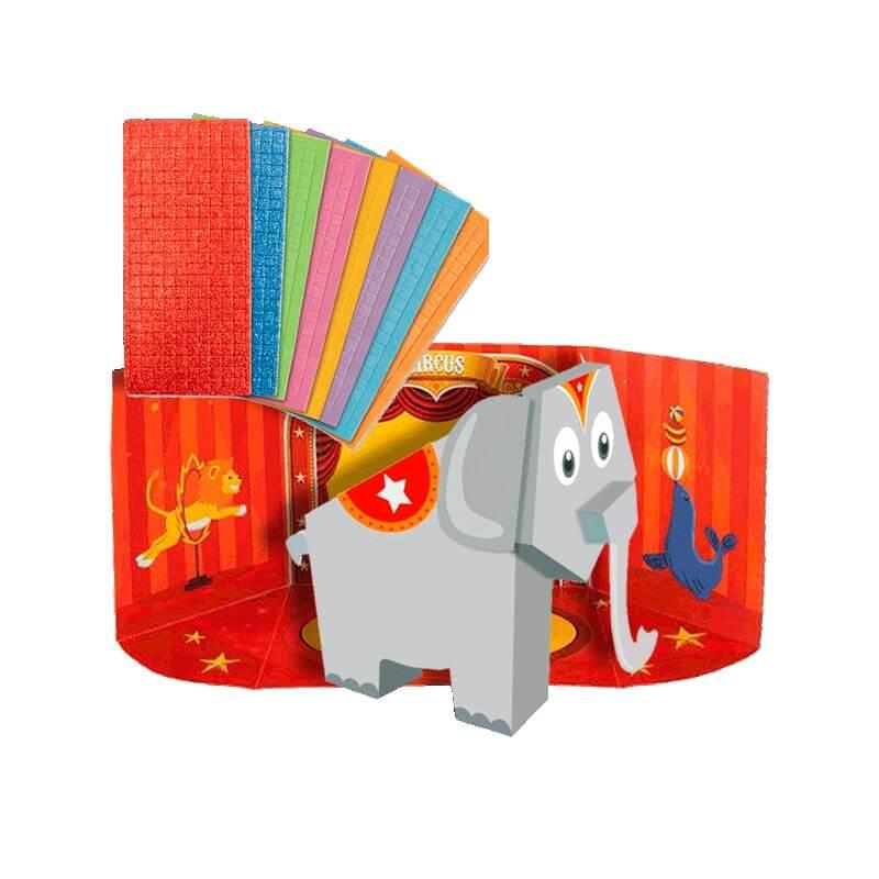 Coffret mosaique 3d elephant pour enfant