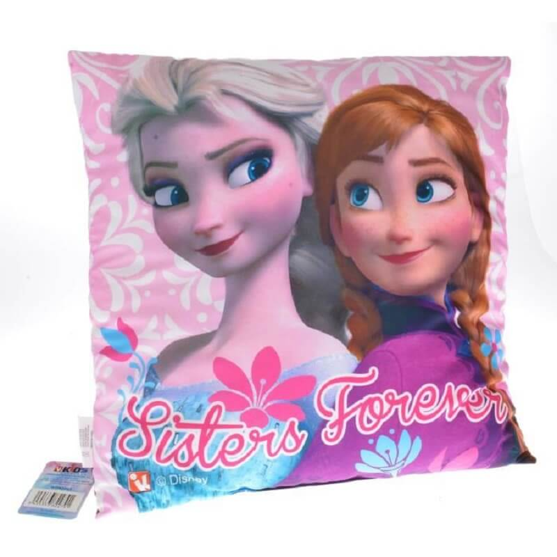 Coussin la reine des neiges disney sisters forever