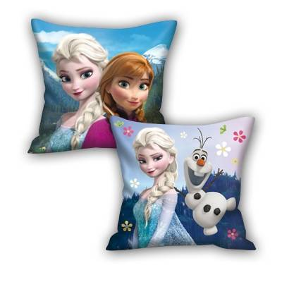 Coussin la reine des neiges enfant idee cadeau sous licence disney