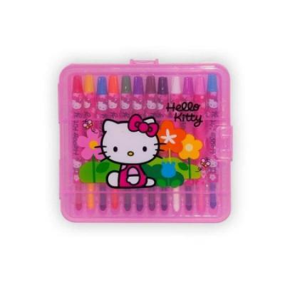 Boîte de 12 crayons gras Hello Kitty pour faire de beaux coloriages