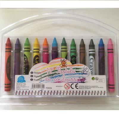 12 crayons pastels de couleurs enfant pour faire de beaux coloriages