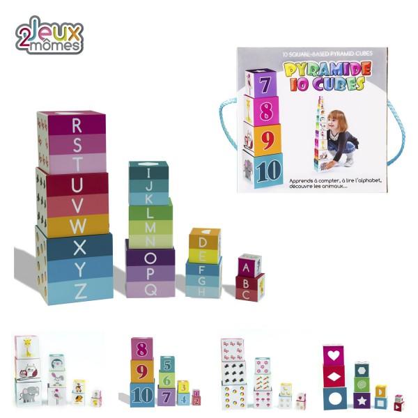 Cubes a empiler 10 pieces jouet educatif enfant compter alphabet