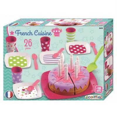 Dînette et gâteau Ecoiffier - Jouet Fabriqué en France