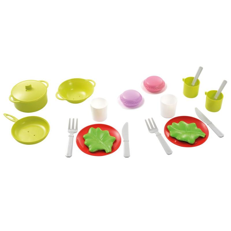 Dinette pour enfant 22 pieces ecoiffier