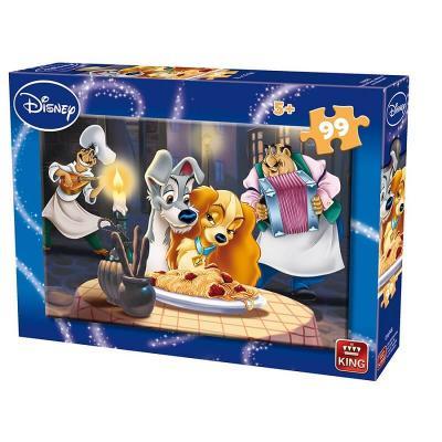 Puzzle La belle et le clochard Disney de 99 pièces