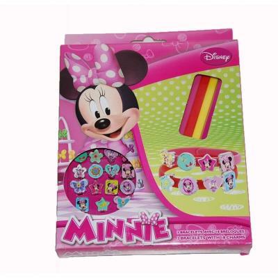 Disney minnie 3 bracelets avec 18 breloques