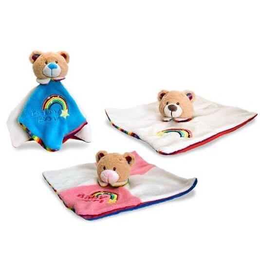 Doudou ours keel toys des la naissance idee cadeau bebe