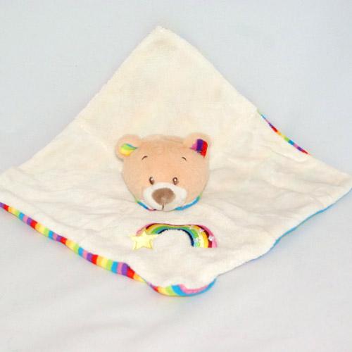 Doudou ours kell toys blanc