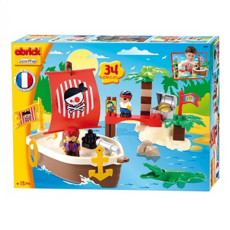 Ecoiffier abrick briques de construction monde des pirates