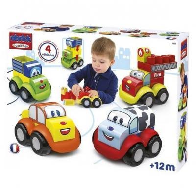Ecoiffier coffret vehicules puzzle 3d maxi abrick fabrique en france