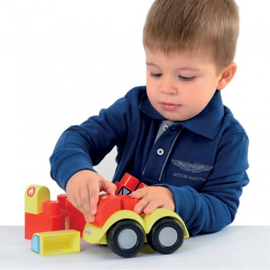 Ecoiffier maxi abrick 4 vehicules jouet fabrique en france