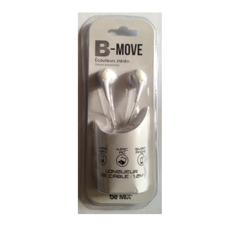 Ecouteurs stereo be move blanc