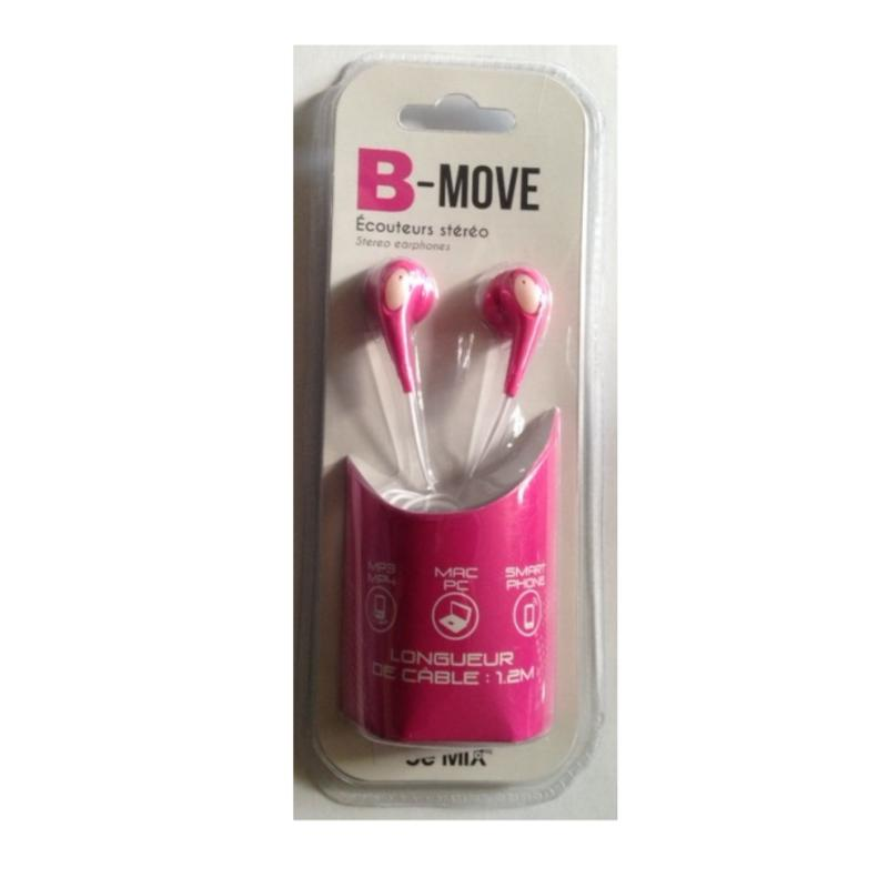 Ecouteurs stereo be move rose