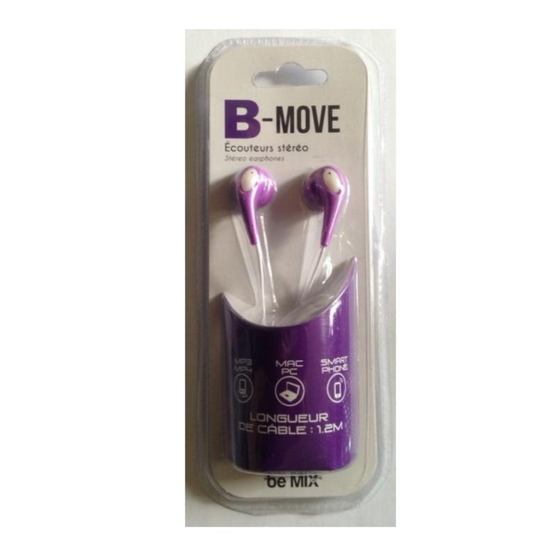 Ecouteurs stereo be move violet