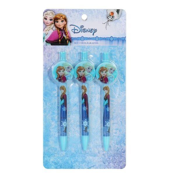 Ensemble de 3 stylos la reine des neiges disney
