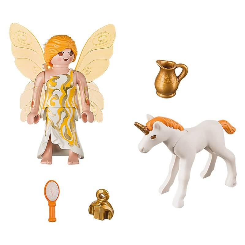Fee et bebe licorne playmobil details pack
