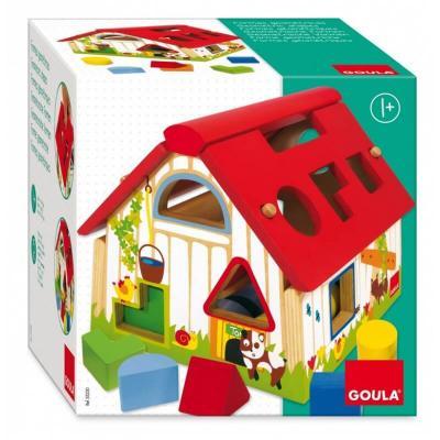 Ferme formes geometriques en bois goula jouet enfant 12 mois et plus