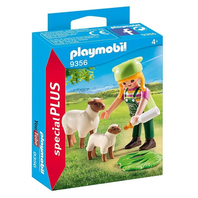 Fermiere avec moutons playmobil