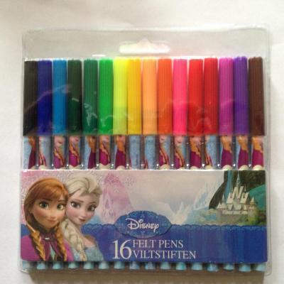 Pochette de 16 Feutres La Reine des Neiges Disney