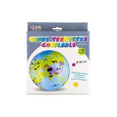 Globe terrestre gonflable de 35 cm