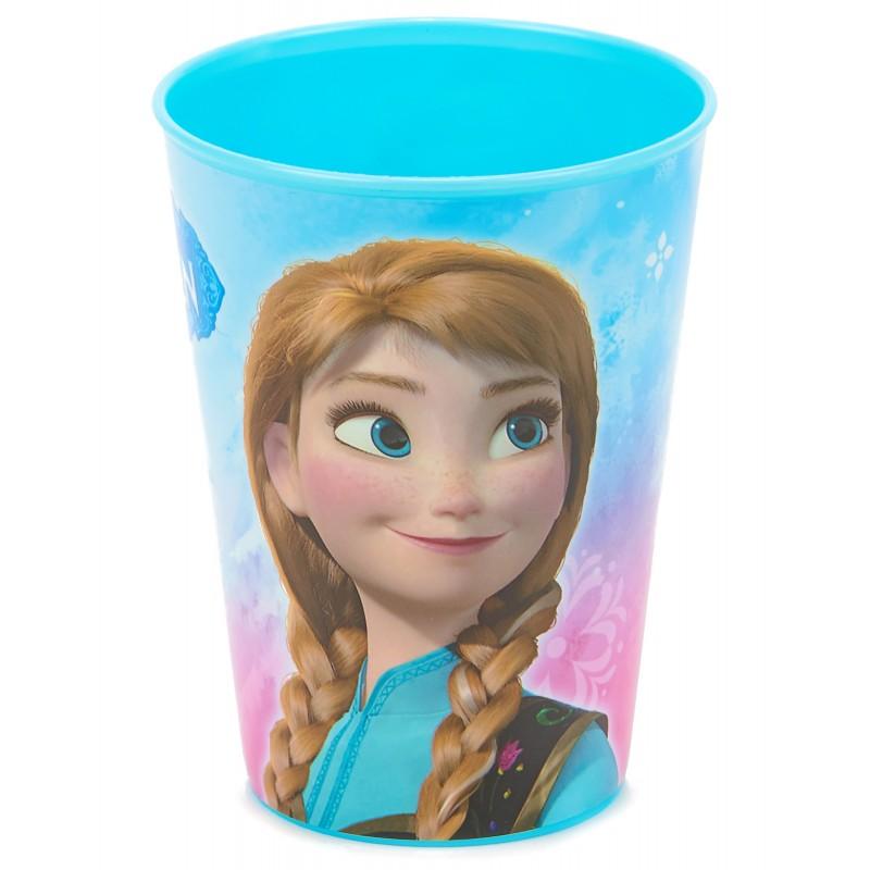 Gobelet plastique la reine des neiges cadeau fille reutilisable 2